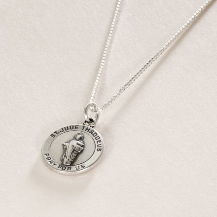 Saint Jude Medal Necklace - Optional Engraving